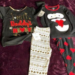 Toddler girl Valentines bundle